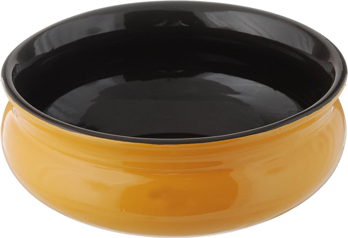 Тарелка глубокая Борисовская керамика Скифская, цвет: желтый, черный, 500 млРАД14458194_желтый, черныйГлубокая тарелка Борисовская керамика Скифская выполнена из керамики. Изделие сочетает в себе изысканный дизайн с максимальной функциональностью. Она прекрасно впишется в интерьер вашей кухни и станет достойным дополнением к кухонному инвентарю. Такая тарелка подчеркнет прекрасный вкус хозяйки и станет отличным подарком. Можно использовать в духовке и микроволновой печи. Диаметр тарелки (по верхнему краю): 14 см. Объем: 500 мл.