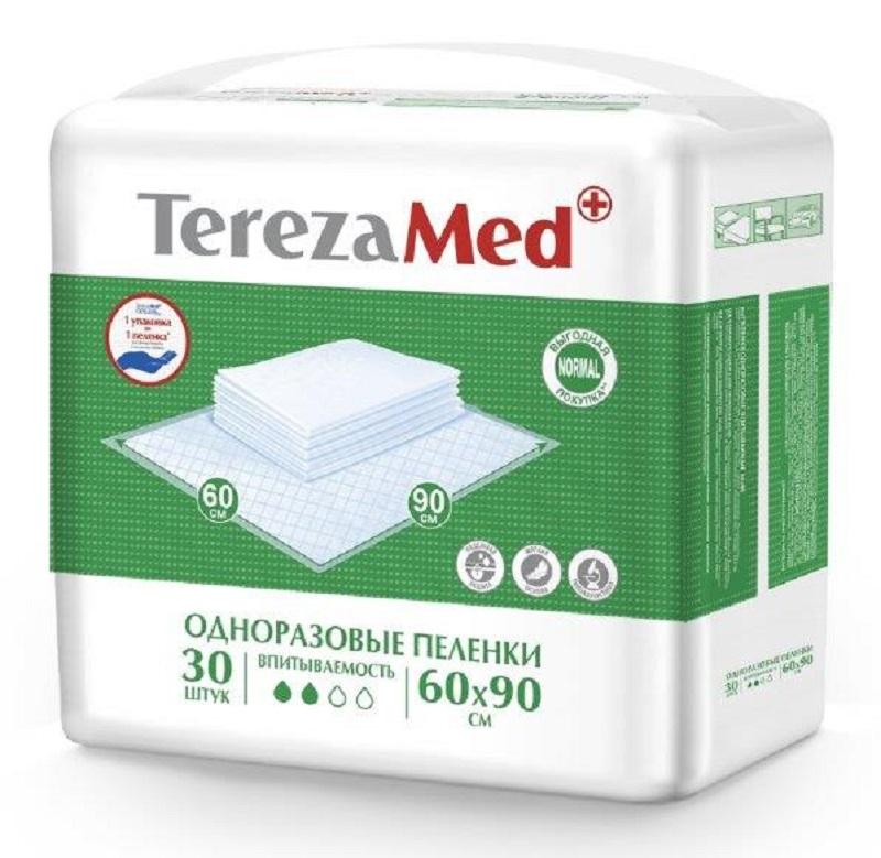 TerezaMed Normal Пеленки одноразовые впитывающие Normal 60 x 90 см 30 шт 7646