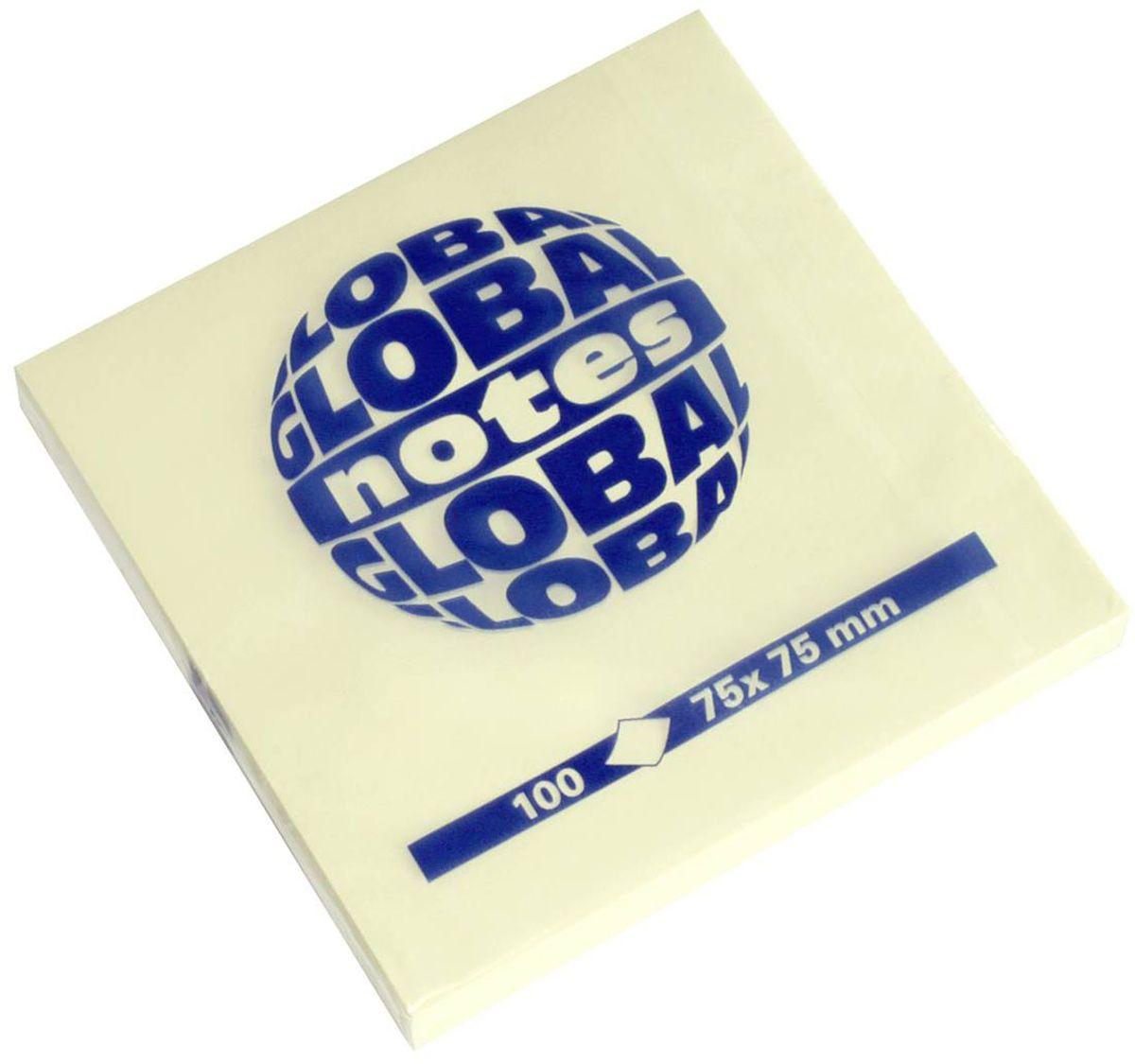 Global Notes Бумага для заметок с липким слоем цвет желтый 100 листов 365401