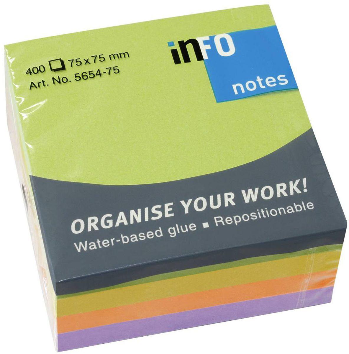 Global Notes Бумага для заметок с липким слоем Вдохновение 400 листов475Бумага с с клеевым слоем, 4 цвета. Размер 75х75 мм. В блоке 400 листов Плотность бумаги 70гр/м2