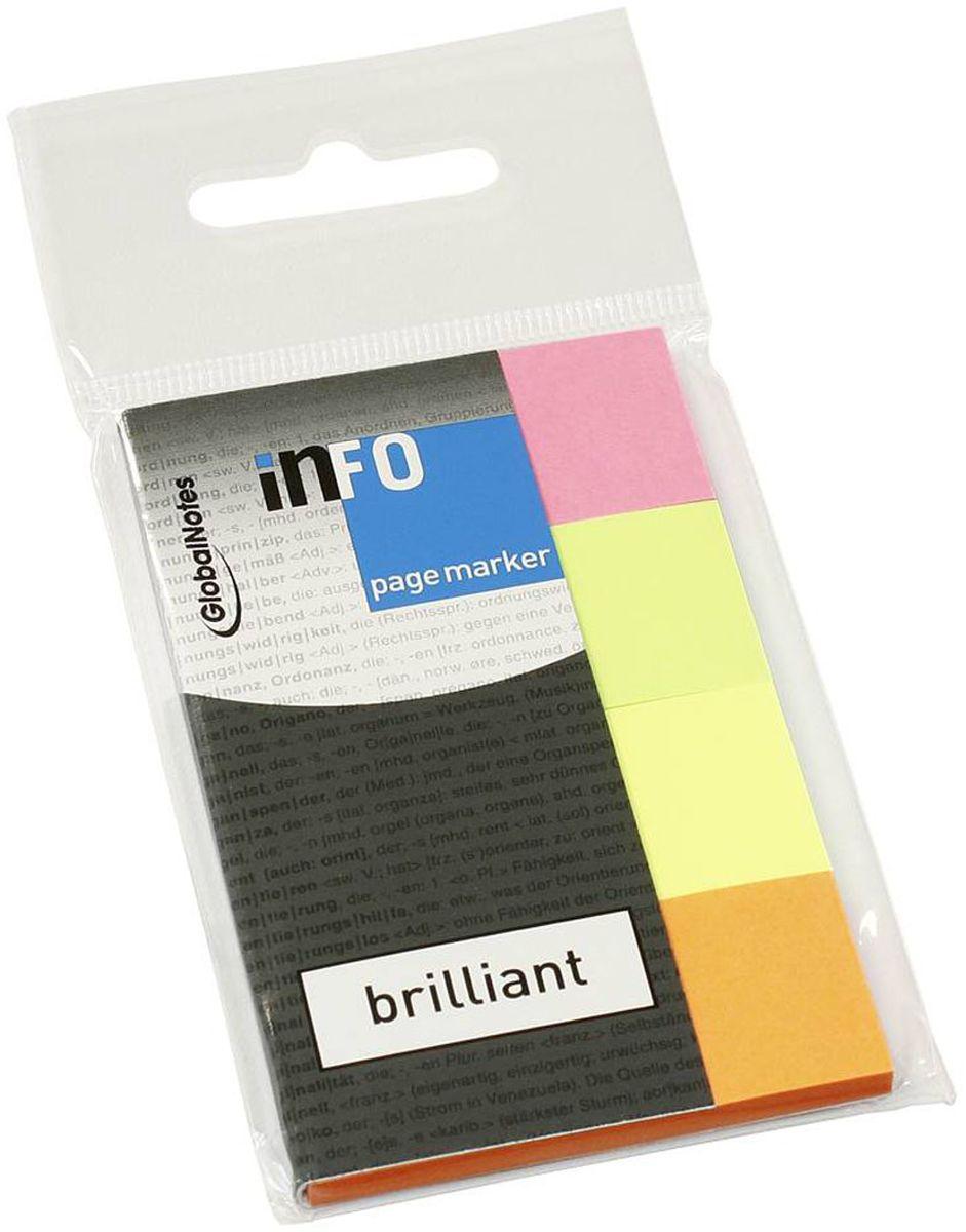 Global Notes Блок-закладка с липким слоем 160 листов 567039567039Бумажные закладки с липким слоем предназначены для наиболее эффективного выделения важной информации без повреждения книги или документа. Идеально подходят для быстрой и эффективной работы - просто выдели и найди. Закладки можно переклеивать несколько раз. 4 цвета по 40 штук. Размер 20х50 мм Толщина бумаги 50 мкр.