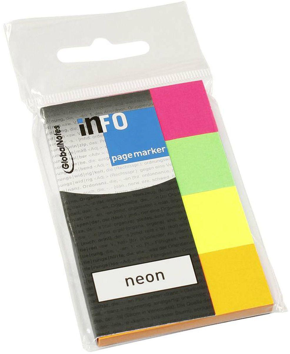 Global Notes Блок-закладка с липким слоем 200 листов567089Бумажные закладки с липким слоем предназначены для наиболее эффективного выделения важной информации без повреждения книги или документа. Идеально подходят для быстрой и эффективной работы - просто выдели и найди. Размер 20х50 мм. 200 листов, 4 цвета Толщина бумаги 50 мкр.