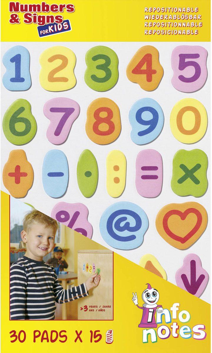 Global Notes Бумага для заметок с липким слоем Цифры и Знаки 450 листов871608Набор Цифры и Знаки, 20х37см, с липким слоем, 30 знаков по 15шт каждого