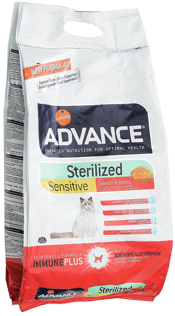 Корм сухой Advance Sterilized, для стерилизованных кошек, ячмень и лосось, 3 кг20730Сухой корм Advance Sterilized является полнорационным сбалансированным кормом для кастрированных котов и стерилизованных кошек. Особенности корма Advance Sterilized: предотвращает ожирение без потери мышечной массы; уменьшает риск появление мочекаменной болезни или камней; улучшение гормональных функций. Сухой корм Advance - это высококачественная продукция, основанная на последних разработках в области диетологии и питания, чтобы поддерживать вашего любимца в отличном состоянии. Advance полностью сбалансированный корм, который обеспечивает прекрасное самочувствие животного, как внутри, так и снаружи.