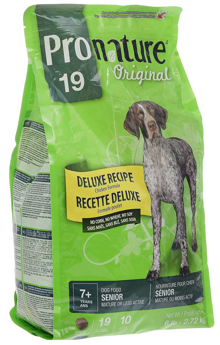 Корм сухой Pronature Original 19 для пожилых собак зрелого возраста или малоактивных, с курицей, 2,72 кг102.490Сухой корм Pronature Original 19 является полнорационным кормом для пожилых собак зрелого возраста (от 7 лет и старше) или малоактивных. Корм Pronature приготовлен из тщательно отобранных компонентов, обогащен уникальной смесью экстрактов целебных трав, овощей и ягод, является идеальным сухим кормом класса премиум для кошек и собак. Уникальный состав кормов Pronature, в котором нет сои, красителей, искусственных ароматизаторов и консервантов, гарантирует оптимальное развитие вашего животного на каждом этапе его жизни. Товар сертифицирован.