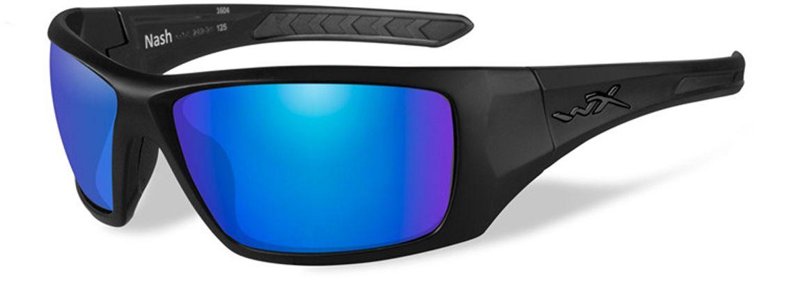 """Очки солнцезащитные WileyX """"Nash Polarized"""", для охоты, рыбалки и активного отдыха, цвет: Blue Mirror, Green ACNAS09"""