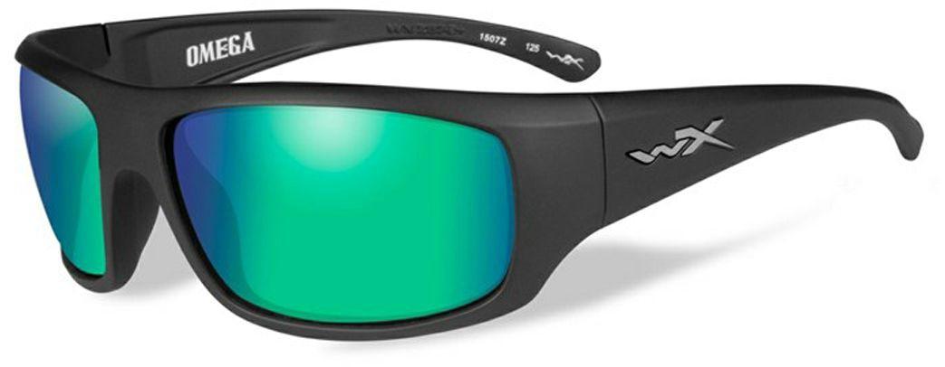 """Очки солнцезащитные WileyX """"Omega Polarized"""", для охоты, рыбалки и активного отдыха, цвет: Emerald Mirror, Amber"""
