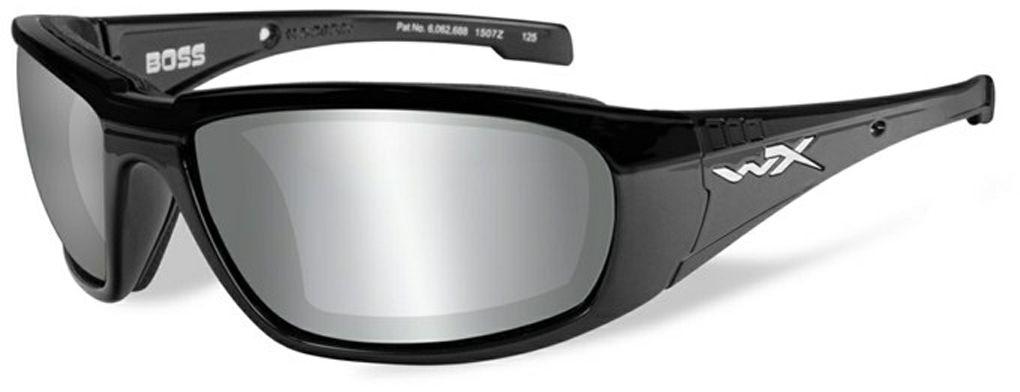 """Очки солнцезащитные WileyX """"Boss Silver Flash"""", для охоты, рыбалки и активного отдыха, цвет: Smoke Grey CCBOS01"""