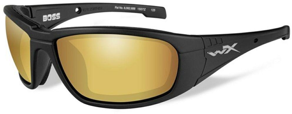 """Очки солнцезащитные WileyX """"Boss Polarized"""", для охоты, рыбалки и активного отдыха, цвет: Gold Mirror, Amber CCBOS04"""