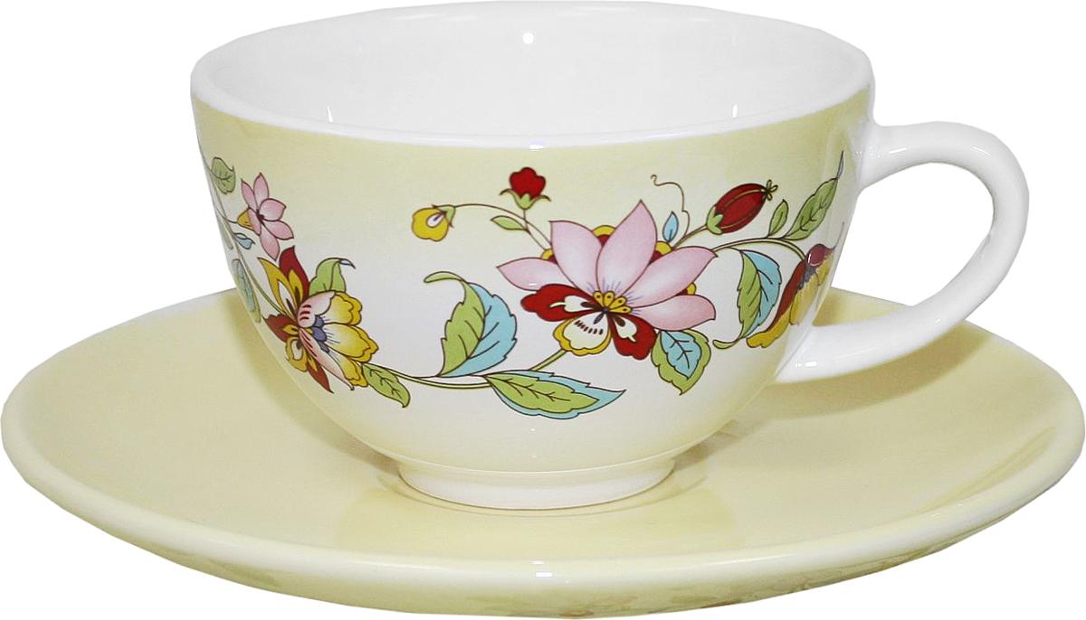 Чайная пара Azulejo Espanol Ceramica Sunny Flowers, 2 предмета216845