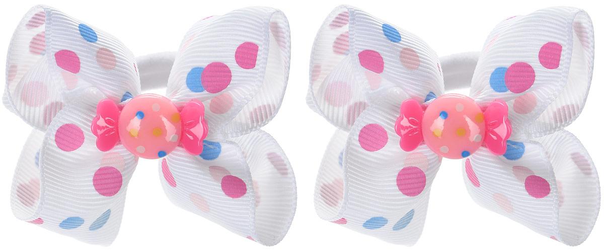 Babys Joy Резинка для волос Конфетка цвет белый 2 шт MN 163/2MN 163/2_белый/конфеткаРезинка для волос Babys Joy станет отличным дополнением к прическе вашей малышки. В набор входят две текстильные резинки, дополненные декоративным элементом в виде бантика и пластиковой конфетки. Резиночки хорошо тянутся и прекрасно держат волосы.