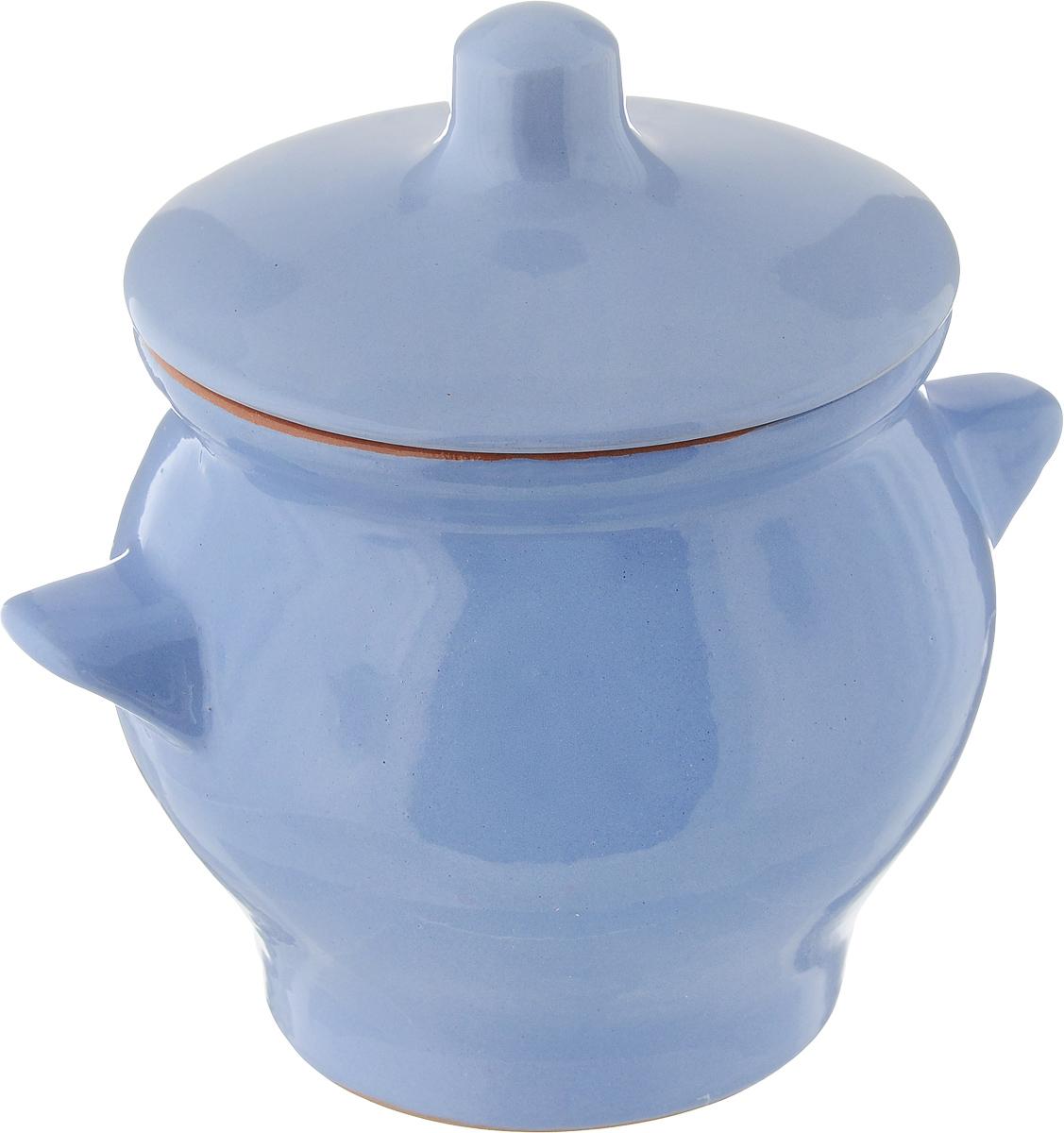 Горшочек для запекания Борисовская керамика Радуга, цвет: голубой, 650 млРАД00000347_голубойГоршочек для запекания Борисовская керамика Радуга выполнен из высококачественной красной глины. Уникальные свойства красной глины и толстые стенки изделия обеспечивают эффект русской печи при приготовлении блюд. Блюда, приготовленные в таком горшочке, получаются нежными и сочными. Вы сможете приготовить мясо, сделать томленые овощи и все это без капли масла. Это один из самых здоровых способов готовки. Диаметр горшка (по верхнему краю): 11 см. Высота стенок: 11,5 см.