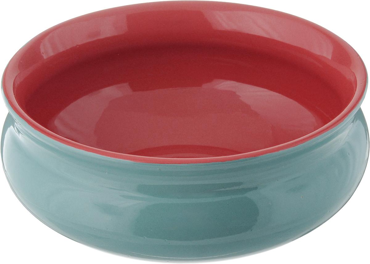 Тарелка глубокая Борисовская керамика Скифская, цвет: бирюзовый, красный, 800 млРАД14457937_бирюзовый, красныйТарелка глубокая Борисовская керамика Скифская, цвет: бирюзовый, красный, 800 мл