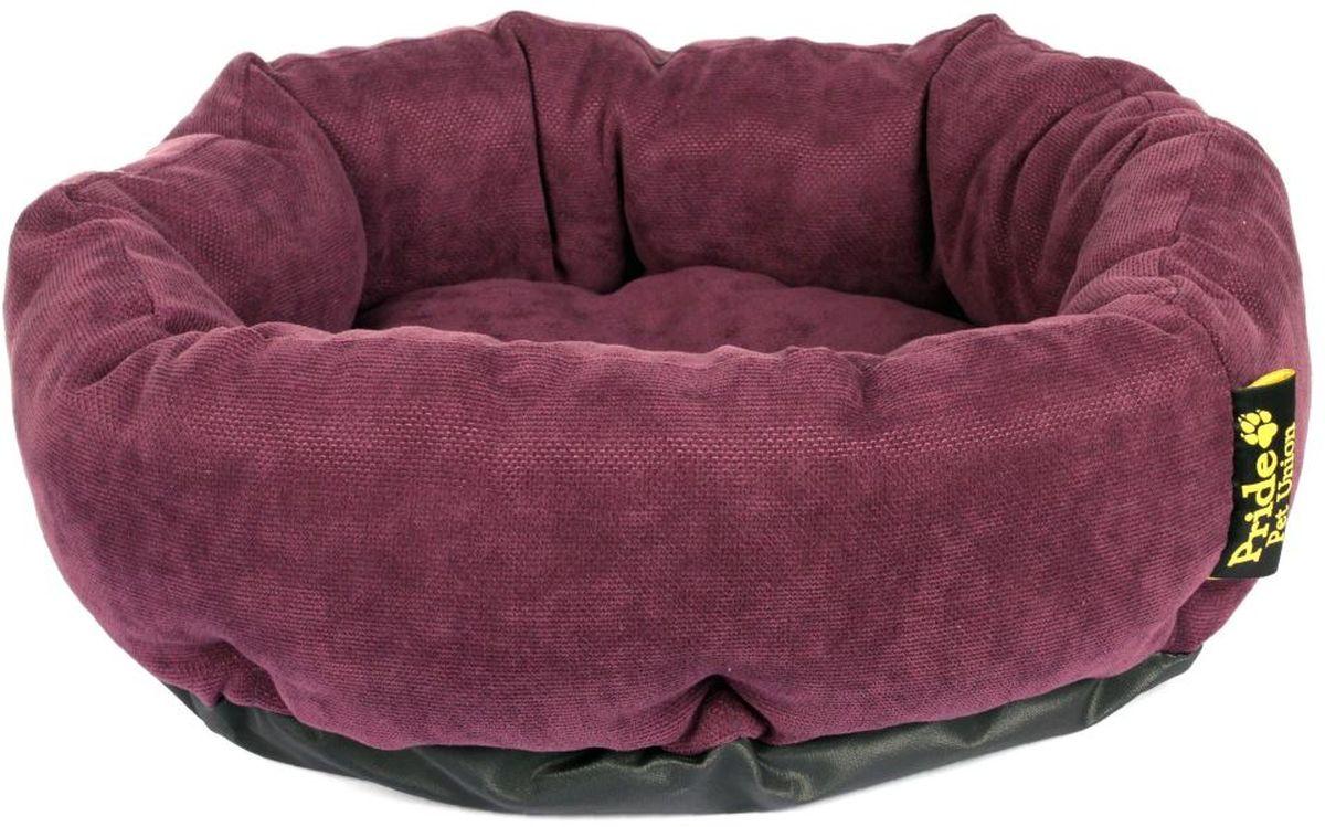 Лежак для животных Pride Ватрушка. Дели, цвет: фиолетовый, 45 х 45 х 12 см10011281