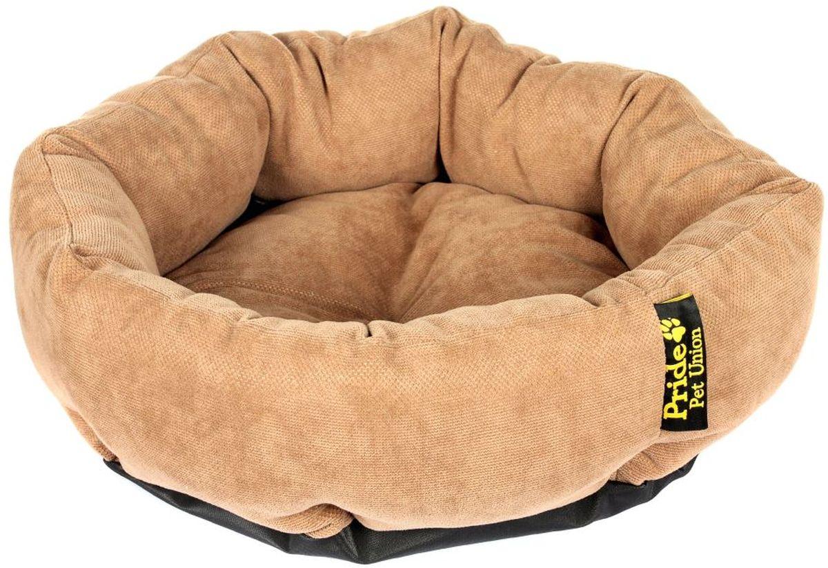 Лежак для животных Pride Ватрушка. Дели, цвет: десерт, 45 х 45 х 12 см10011301