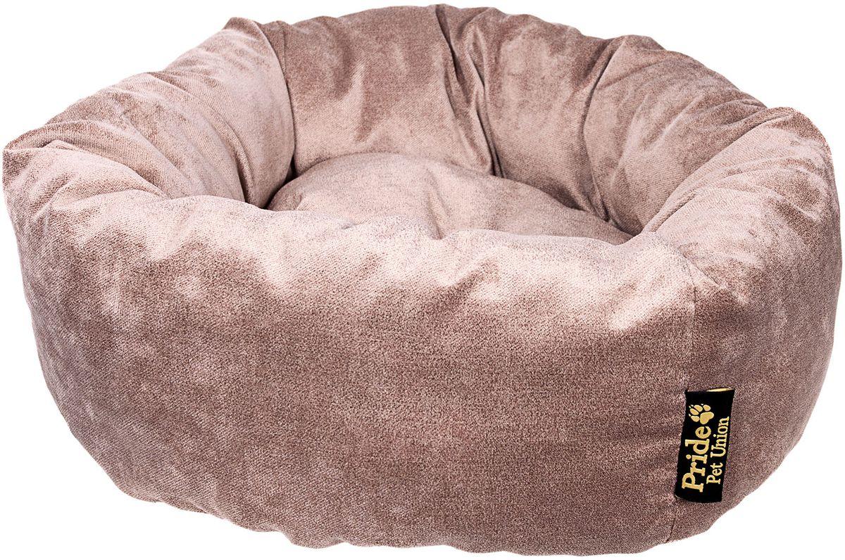 Лежак для животных Pride Ватрушка. Лофт, цвет: десерт, 53 х 53 х 20 см10011382