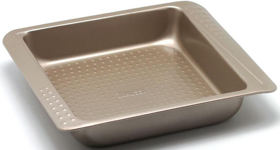 Форма для выпечки Zanussi Turin, 27,5 х 23,4 х 5 см, цвет: бронзовый. ZAC21112CFZAC21112CFКоллекция форм серии Turin является хорошим приобретением любой хозяйки. Товар бренда Zanussi - металлические формы - пользуется высоким спросом, его отличает высокое качество и удобный размер. Изделия выполнены из толстой углеродистой стали. Форма имеет антипригарное покрытие и утолщенные стенки, которые гарантируют равномерное пропеканиеизделия. Можно использовать в духовке до 230 градусов. Главное преимущество стальных форм - это абсолютная химическая нейтральность и экологичность.