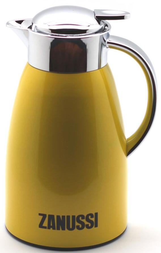 Кувшин-термос Zanussi Livorno, 1,5 л, цвет: желтый. ZVJ71142CFZVJ71142CFТермос-кувшин из нержавеющей стали со стальной колбой серии Livorno бренда Zanussi— безупречность качества и традиция стиля. Изысканный дизайн кувшина послужит дополнительным элементом сервировки стола у Вас дома и в офисе. Термос-кувшин используется для заваривания любых напитков и позволяет сохранять температуру горячего напитка до 6 часов, холодного до 8 часов. Конструкция крышки предусматривает надежный фиксатор, для использования нужно нажать на рычаг, после чего происходит открытие клапана. Не наполняйте термос выше горлышка - это позволит наиболее долго сохранить температуру и избежать ожога горячей жидкостью. Корпус покрыт глянцевым лаком для предохранения от пятен и царапин. Термос рекомендуется мыть вручную.