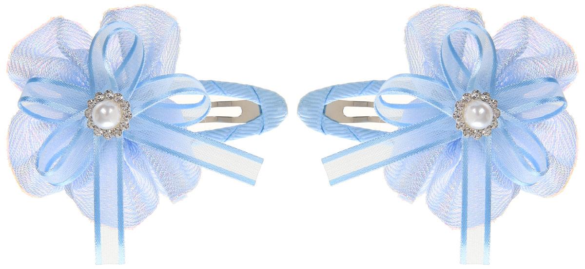 Baby's Joy Заколка для волос цвет голубой перламутровый 2 шт MN 14_голубой