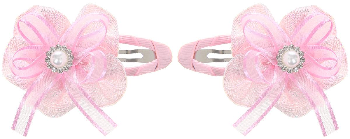 Babys Joy Заколка для волос цвет светло-розовый перламутровый 2 штMN 14_перламутровый, розовая лентаЗаколка для волос Babys Joy выполнена из металла и украшена текстильным цветком со стразами. Заколка позволит убрать непослушные волосы с лица, придаст образу романтичности и очарования. Заколка для волос Babys Joy подчеркнет уникальность вашей маленькой модницы и станет прекрасным дополнением к ее неповторимому стилю. В упаковке две заколки. Рекомендуется детям старше трех лет.