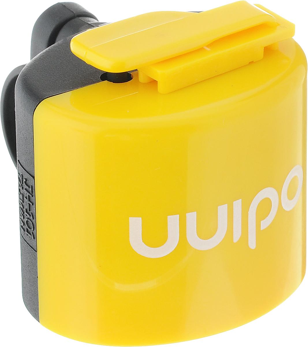 Звонок велосипедный Odinn, электронный, цвет: желтый, черныйJH-101_желтый, черныйЭлектронный звонок Odinn крепится на руль велосипеда и позволяет привлечь внимание в опасных ситуациях. Звонок выполнен из водонепроницаемого пластика, долговечен в использовании. Основным его назначением является предотвращения столкновения, как на дорогах общего пользования, так и на тротуарах.