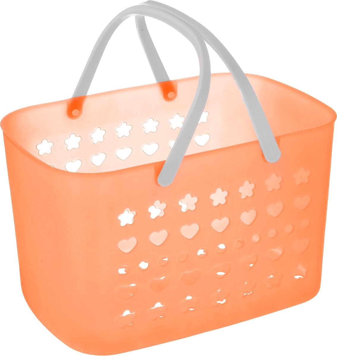 Корзина для мелочей Sima-land, цвет: оранжевый, 27,5 х 17,5 х 17 см, 799929799929_оранжевыйПрямоугольная корзина Sima-land, изготовленная из пластика, предназначена для хранения мелочей в ванной, на кухне, даче или гараже. Корзина оснащена перфорированными стенками и дном. Для удобства переноски корзины имеются пластиковые ручки. Элегантный выдержанный дизайн позволяет органично вписаться в ваш интерьер и стать его элементом. Компактные размеры изделия позволят вам уместить его даже в очень небольшом помещении.