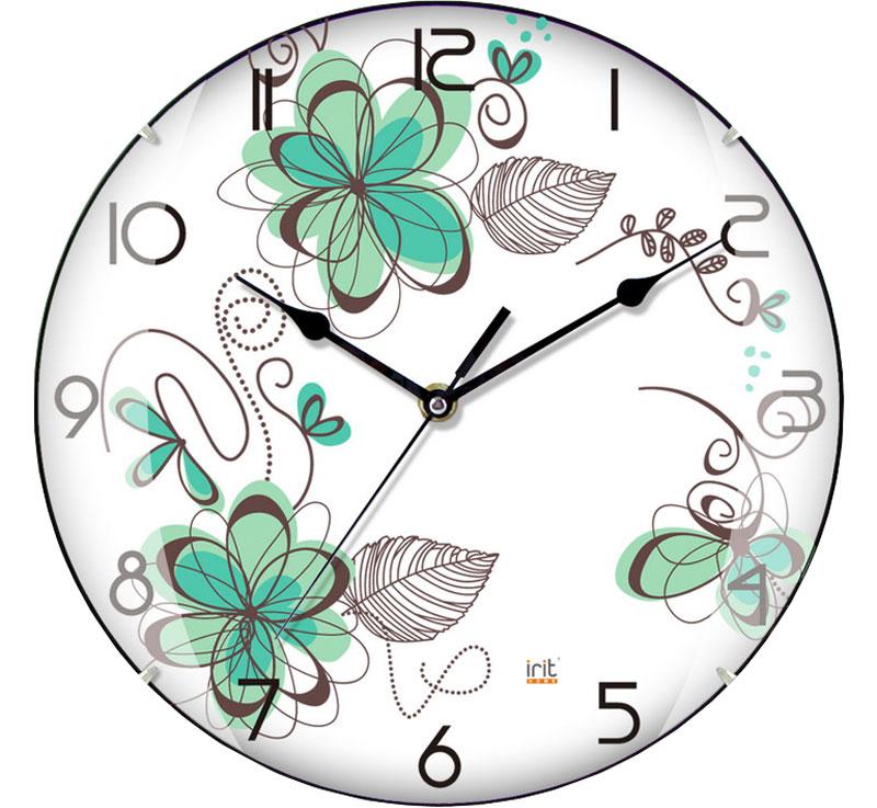 Irit IR-615 настенные часы79 02006Настенные часы Irit IR-615 - это элегантный и неотъемлемый элемент дизайна любого помещения. Корпус кварцевых часов выполнен из качественного пластика, который гарантирует не только их легкость, но и практичность, легкий монтаж и уход. Циферблат данной модели оформлен стильным и красивым принтом. Диаметр часов: 25 см.