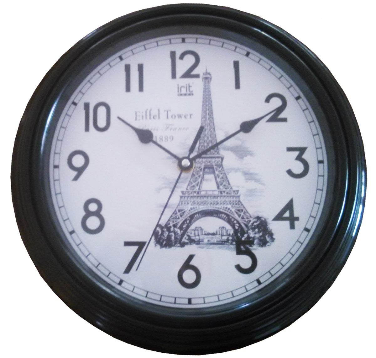 Irit IR-619 настенные часы79 02010Настенные часы Irit IR-619 - это элегантный и неотъемлемый элемент дизайна любого помещения. Корпус кварцевых часов выполнен из качественного пластика, который гарантирует не только их легкость, но и практичность, легкий монтаж и уход. Циферблат данной модели оформлен стильным и красивым принтом. Диаметр часов: 30 см.