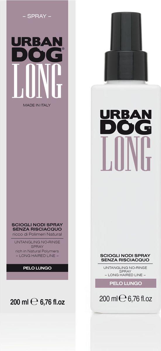 Спрей для собак Urban Dog, для распутывания колтунов, без смывания, с натуральными полимерами , 200 млUD3001SS2LИнновационный спрей быстрого воздействия для разглаживания и распутывания, облегчает проход щетки так, чтобы она не выдергивала шерсть. Благодаря входящему в формулу натуральному полимеру защитного действия спрей предохраняет структурную целостность шерсти. Идеально подходит для собак длинношерстных пород.