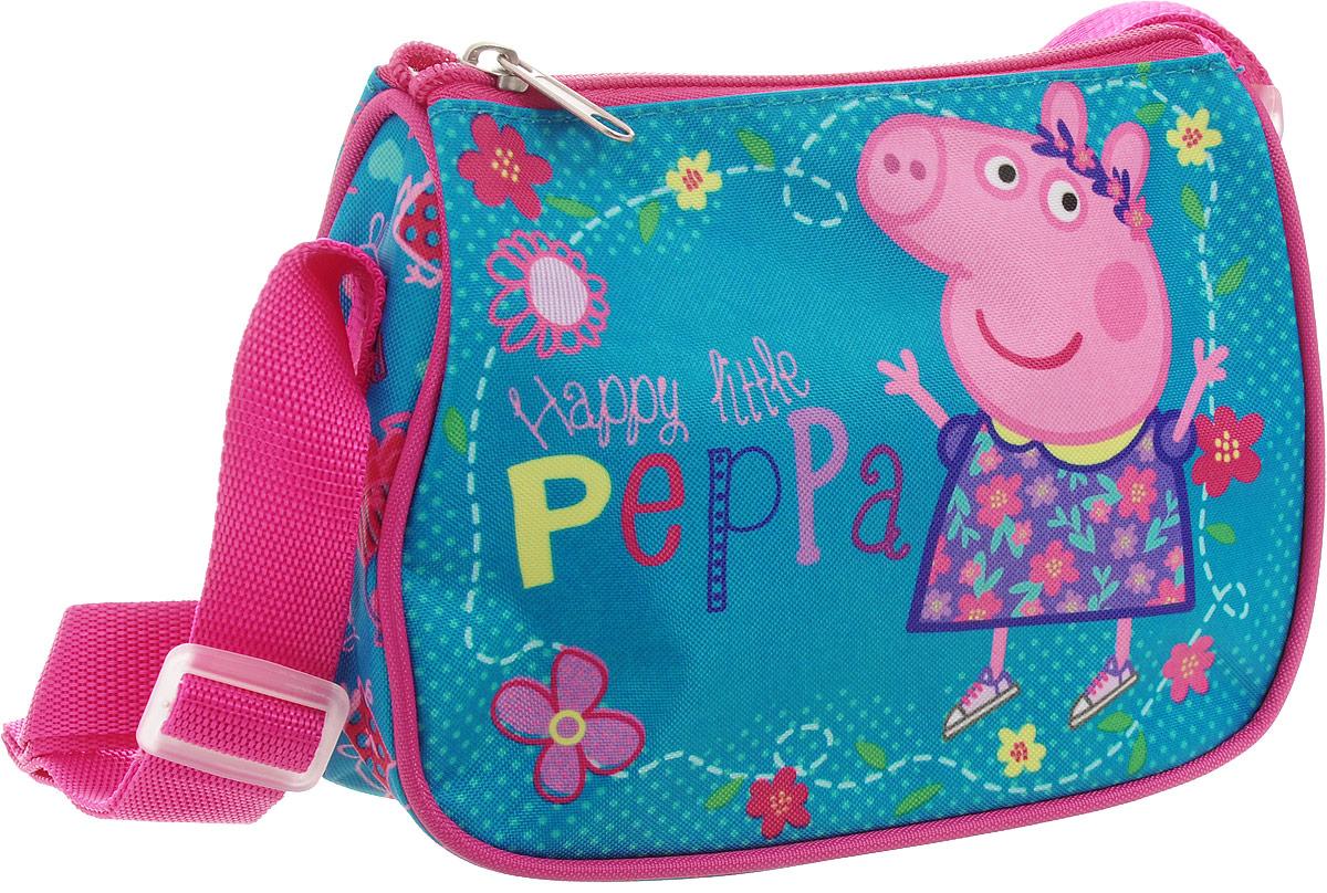 Peppa Pig Сумка детская Счастливая маленькая Пеппа32046Детская сумочка Peppa Pig обязательно понравится вашей маленькой моднице. С таким милым аксессуаром можно ходить в гости или на прогулку, а также устраивать множество увлекательных игр, всегда оставаясь в центре восхищенного внимания. Сумочка имеет одно отделение на застежке-молнии, в которое можно положить любимые игрушки или необходимые на прогулке вещи. Длину регулируемой лямки можно установить от 28 до 48 см, поэтому аксессуар подходит девочкам разного роста. Изделие декорировано ярким рисунком (сублимированной печатью), устойчивым к истиранию и выгоранию на солнце.