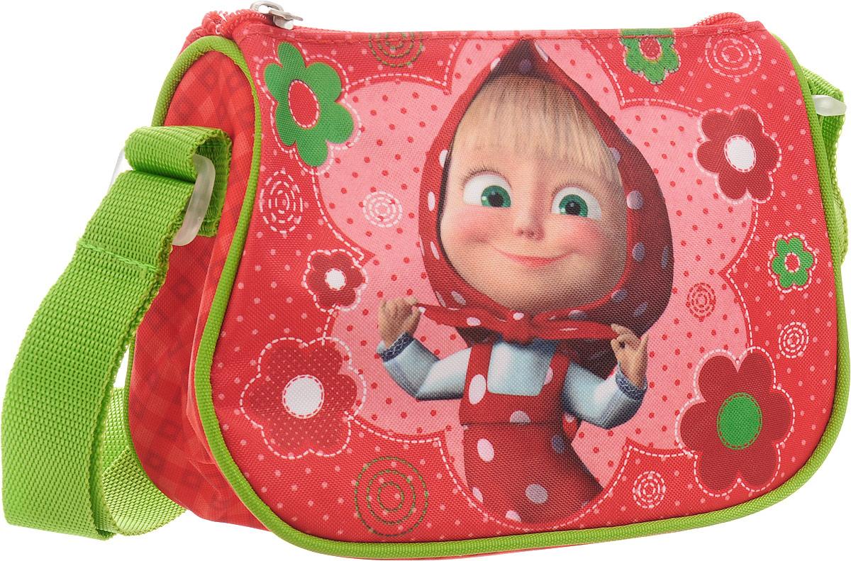 Маша и Медведь Сумка детская цвет красный салатовый31978Яркая и миниатюрная сумочка Маша и Медведь создана специально для вашей юной принцессы. С таким милым аксессуаром можно ходить в гости или на прогулку, а также устраивать множество увлекательных игр, всегда оставаясь в центре восхищенного внимания. Сумочка имеет одно отделение на застежке-молнии, в которое можно положить любимые игрушки или необходимые на прогулке вещи. Длину регулируемой лямки можно установить от 28 до 48 см, поэтому аксессуар подходит девочкам разного роста. Изделие декорировано ярким рисунком (сублимированной печатью), устойчивым к истиранию и выгоранию на солнце.