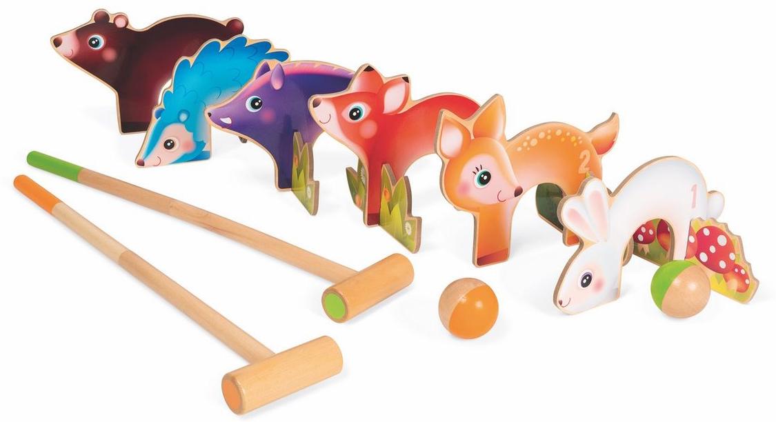 Janod Игровой набор Крокет Лесные животные