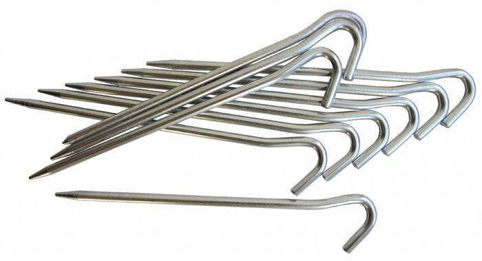 Алюминивые колышки Tramp, цвет: металл. TRA-013TRA-013Алюминивые колышки для палатки.