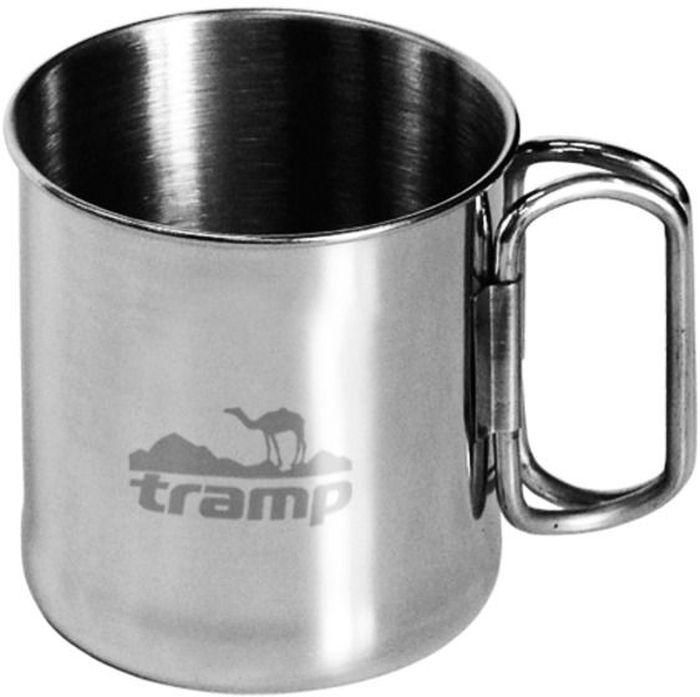 Кружка со складными ручками Tramp, цвет: серый, 0,3 л. TRC-011