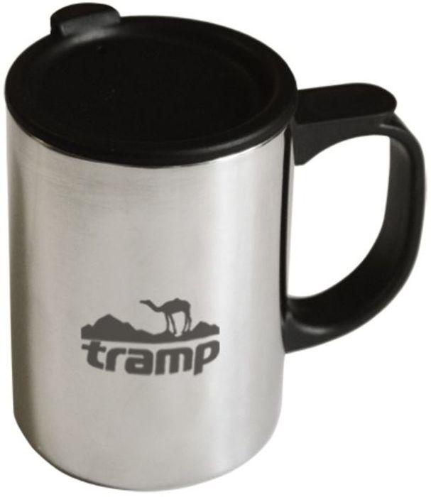 Термокружка с поилкой Tramp, цвет: серый, 0,4 л. TRC-019