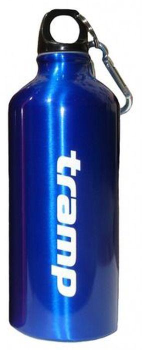Бутылка алюминиевая в чехле Tramp, цвет: синий, черный, 0,6 л. TRC-033