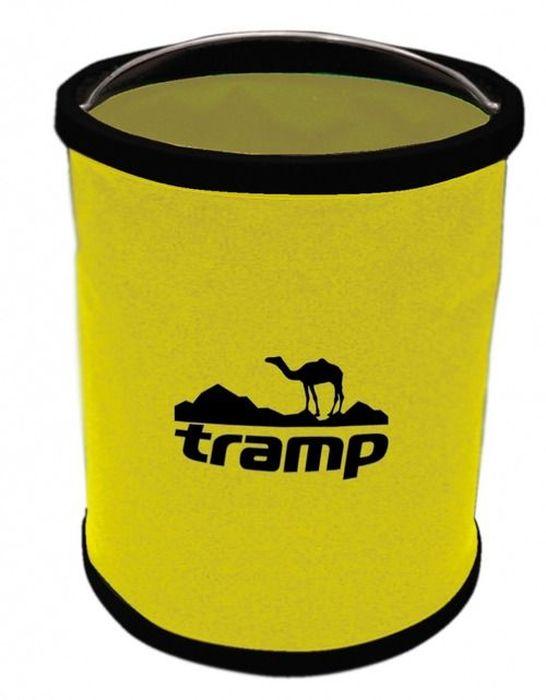 Ведро складное Tramp, цвет: желтый, 6 л. TRC-059TRC-059Ведро складное 6 л