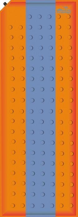 Коврик самонадувающийся Tramp, цвет: оранжевый, синий, 180х50х2,5см. TRI-002TRI-002Внутренняя структура: вертикальные каналы Размер: 180 х 50 х 2,5 см Клапан: пластик Допустимая нагрузка: до 75 кг Полный вес: 900 г Размер в упаковке: 25х15 см Ковер имеет чехол и стягивающие ремни.