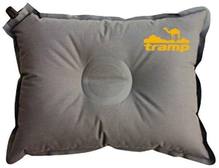 Подушка самонадувающаяся Tramp, цвет: серый, 43х34х8,5см. TRI-008TRI-008Размер: 43 х 34 х 8,5 см Полный вес: 220 г Подушка упакована в компактный тканевый мешочек.