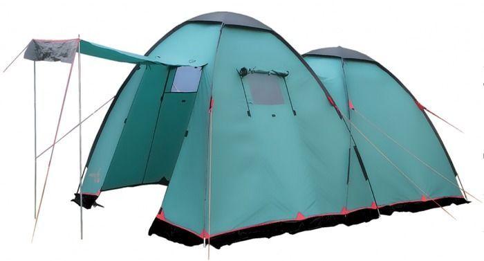 Палатка кемпинговая Tramp Sphinx 4, цвет: зеленый. TRT-068,04TRT-068.04Размер: 455 х 255 см Количество мест: 4 Тент: 100% Полиэстер 75D/190T Dry Tech PU 4000 мм в ст Внутренняя палатка: 100% дышащий полиэстер Каркас: Durapol 11мм + сталь 16 мм Дно: армированный полиэтилен (терпаулинг) Количество входов: 2 Полный вес: 13 кг Количество тамбуров: 1 Размер спального места: 240 х 240 см Размер тамбура: 255 x 200 см Высота: 170 см Высота тамбура: 190 см -Двухслойная кемпинговая палатка с двумя входами, большим тамбуром -Внешний тент палатки устойчив к ультрафиолетовому излучению -Внешний тент имеет пропитку, задерживающую распространение огня -Входы всех спальных отделений продублированы москитной сеткой - Во внешнем тенте вход в тамбур продублирован москитной сеткой -Тент палатки оборудован юбкой -Большое спальное отделение -Два больших вентиляционных окна -Все швы проклеены -Съемный пол из терпаулинга Палатки этой серии рассчитаны на семейный отдых, отдых большой...