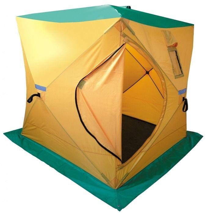 Палатка, баня Tramp HOT CUBE 180, цвет: желтый. TRT-120TRT-120Размер: 180х180х200см Количество мест: 3 Колышки: 8 ввертышей-саморезов Полный вес: 7,6кг Размер в упаковке: 20х20х130 см Палатка дополнительно оборудована съемным выводом из огнеупорных материалов для трубы дымохода. Палатку можно использовать на зимней рыбалке с печным отоплением, в качестве бани. Вместимость 3 человека. Устанавливается за 45 секунд. Один вход, два смотровых и два вентиляционных окна.