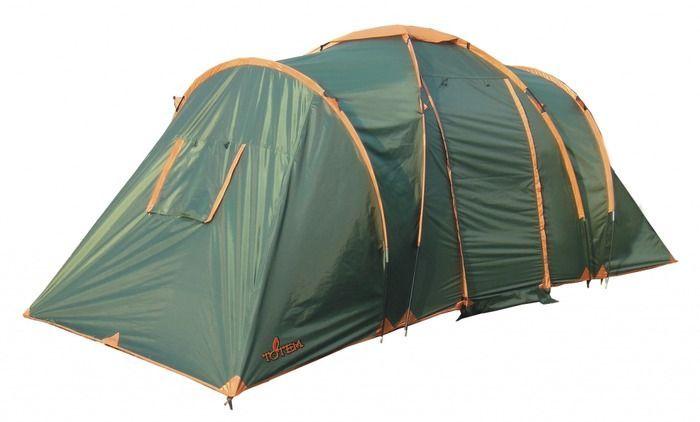 Палатка кемпинговая Тотеm Hurone 4, цвет: зеленый. TTT-005,09TTT-005.09Размер: 220 х 500 см Количество мест: 4 Тент: 100% полиэстер 75D/190T WR PU 1500 мм в ст Внутренняя палатка: 100% дышащий полиэстер 68D/68D 190T Каркас: фибергласс 11 мм+ сталь 16 мм Дно: армированный полиэтилен (терпаулинг) Количество входов: 2 Полный вес: 8,7 кг Количество тамбуров: 1 Размер спального места: 140 х 210 см + 140 х 210 см Размер тамбура: 210 х 210 см Высота: 165 см Высота тамбура: 200 см - Двухслойная кемпинговая палатка с двумя входами и большим тамбуром - Входы всех спальных отделений продублированы москитной сеткой - Два спальных отделения - Два больших вентиляционных окна - Все швы проклеены
