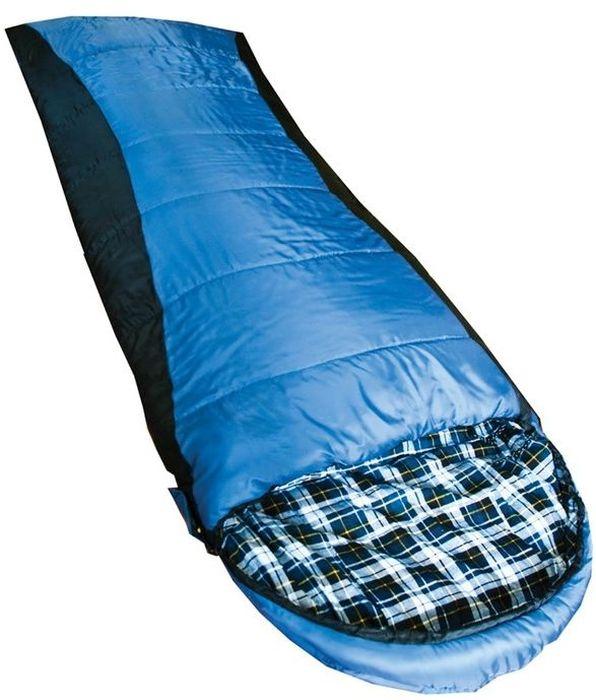 Спальный мешок Tramp NIGHTKING R, цвет: индиго, черный, правая молния. TRS-013.06TRS-013.06_RРазмер: 190 + 40 х 90 см Количество слоев: 2 Температура комфорта: 5 Нижний предел комфорта: 0 Температура экстрима: -10 Полный вес: 2420 г Размер в сложенном виде: 40 х 24 см Упаковка: высококачественный компрессионный мешок 1. Спальники этой серии незаменимы в простых походах в летнее время или в походах на автомобиле, ког- да объем и вес спального мешка не имеет большого значения. Спальники имеют форму одеяла или одеяла с подголовником. Такая форма обеспечивает максимальный комфорт во время сна. 2. Во всех спальных мешках этой серии используется современный, мягкий утеплитель – силиконизиро- ванный HiTech Hollofiber. Волокна данного материала имеют полый канал и спиралевидную форму, что позволяет удерживать большой объем воздуха и отлично сохранять тепло. Волокна не пропускают и не впитывают влагу, даже в условиях повышенной влажности сохраняют тепло. Материал отлично восстанав- ливается после сжатия, занимает минимальный...
