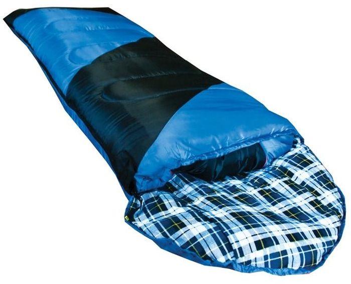 Спальный мешок Tramp NIGHTLIFE L, цвет: индиго, черный, левая молния. TRS-011.06