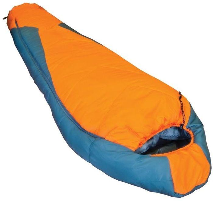 Спальный мешок Tramp OIMYAKON R, цвет: оранжевый, серый, правая молния. TRS-001.02TRS-001.02_RРазмер: 80 (55) x 230 см Количество слоев: 2 Температура комфорта: -6 Нижний предел комфорта: -11 Температура экстрима: -25 Полный вес: 1800 г Размер в сложенном виде: 36 х 24 см Упаковка: высококачественный компрессионный мешок Спальные мешки этой линии разработаны специально для сложных походов в тяжелых климатических условиях. В качестве наполнителя используется самый технологичный из современных утеплителей серии ProLite, Extrafil Q7 многократно проверенный вэкстремальных экспедициях. Этот утеплитель имеет сложную спиралевидную форму, а волокно содержит 7 полых каналов, придающих дополнительную теплоизоляцию, не увеличивая вес изделия. В отличие от пуха, Quallofil гипоаллергенный и не теряет своих свойств при намокании. Таким образом, спальные мешки этой линии могут использоваться в сложных походах, где важны не только температурный режим, но и вес. Внешний материал — высокопрочный Nylon 300T/40D с плетением Diamond RipStop надежно...