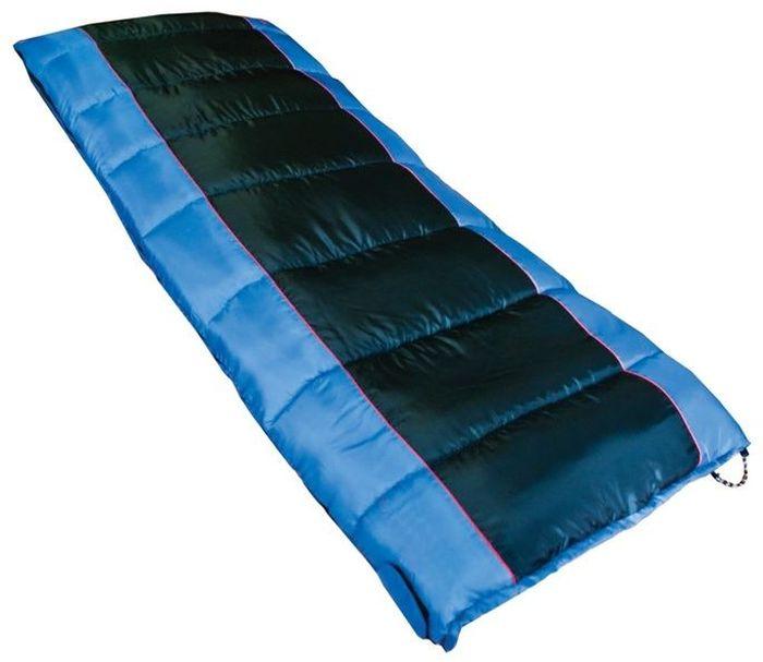 Спальный мешок Tramp WALRUS L;, цвет: индиго, черный, левая молния. TRS-012.06TRS-012.06_LРазмер: 190 х 85 см Количество слоев: 1 Температура комфорта: 10 Нижний предел комфорта: 5 Температура экстрима: 0 Полный вес: 2010 г Размер в сложенном виде: 37 х 25 см Упаковка: высококачественный компрессионный мешок 1. Спальники этой серии незаменимы в простых походах в летнее время или в походах на автомобиле, ког- да объем и вес спального мешка не имеет большого значения. Спальники имеют форму одеяла или одеяла с подголовником. Такая форма обеспечивает максимальный комфорт во время сна. 2. Во всех спальных мешках этой серии используется современный, мягкий утеплитель – силиконизиро- ванный HiTech Hollofiber. Волокна данного материала имеют полый канал и спиралевидную форму, что позволяет удерживать большой объем воздуха и отлично сохранять тепло. Волокна не пропускают и не впитывают влагу, даже в условиях повышенной влажности сохраняют тепло. Материал отлично восстанав- ливается после сжатия, занимает минимальный...
