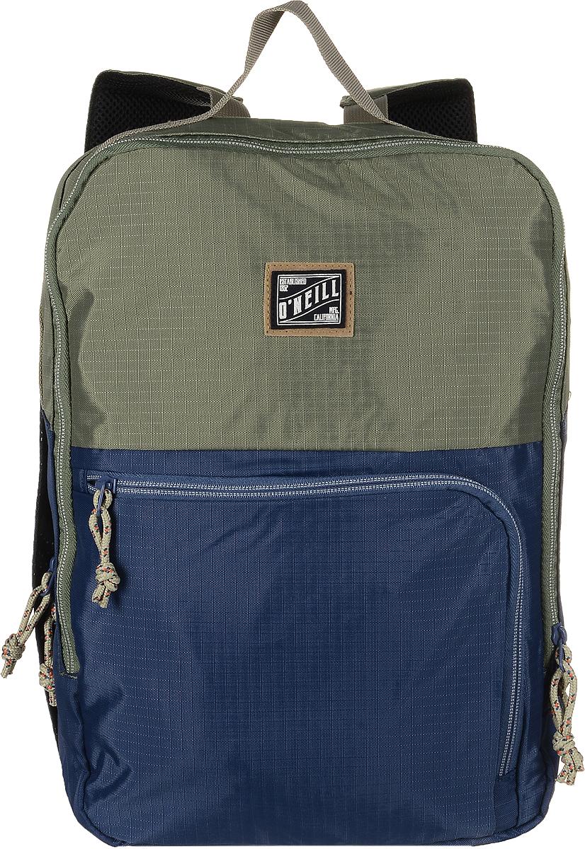 Рюкзак городской ONeill Bm Signal Hill Backpack, цвет: зеленый, синий7A4010-6043