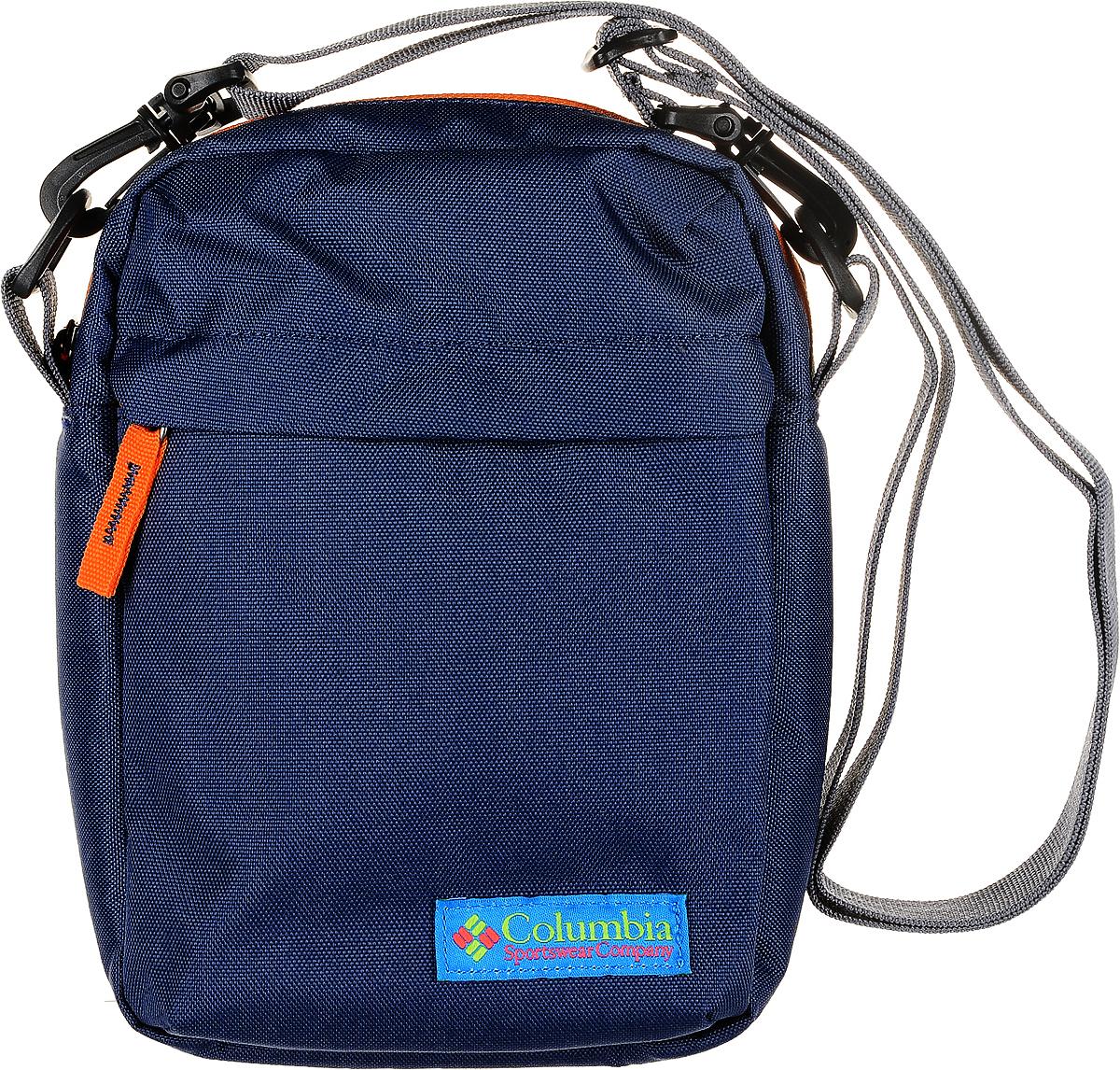 Сумка на плечо Columbia Urban Uplift Side Bag, цвет: темно-синий. 1724821-4921724821-492Поясная сумка от Columbia пригодится в путешествиях. Благодаря покрытию Omni-Shield ткань не впитывает влагу. Сумка выполнена из прочного полиэстера.