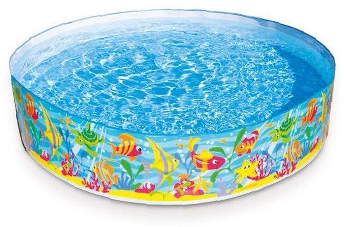 Надувной жесткий бассейн Intex Океан, 183 х 38 см, от 3 лет. с56452с56452надувной бассейн жёсткийокеан 183х38см от 3лет