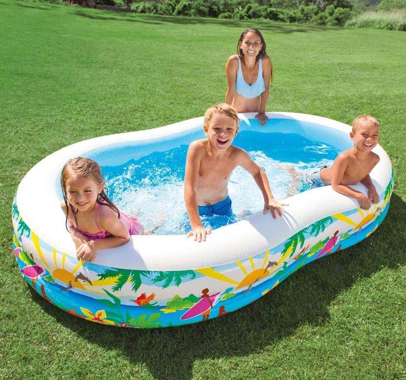 Надувной бассейн Intex Лагуна, 262 х 160 х 46 см, от 3 лет. с56490с56490надувной бассейн лагуна 262х160х46см от 3лет